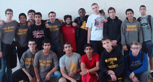 Madison wrestlers in support of BTS Jamboree