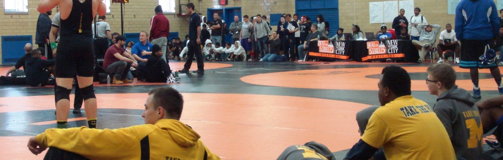 waiting to wrestle
